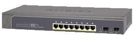 Netgear ProSafe Smart 10-Port Gigabit Switch 8xPoE+, 2xSFP (GS510TP)