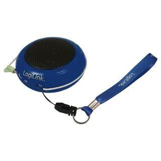 LogiLink przenośny głośnik MP3 (niebieski)