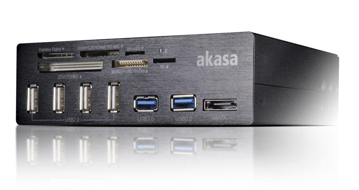 Akasa czytnik kart AK-HC-05BK USB3.0/eSATA