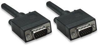 Manhattan kabel monitorowy SVGA HD15 M/HD15 M 4.5m (czarny)