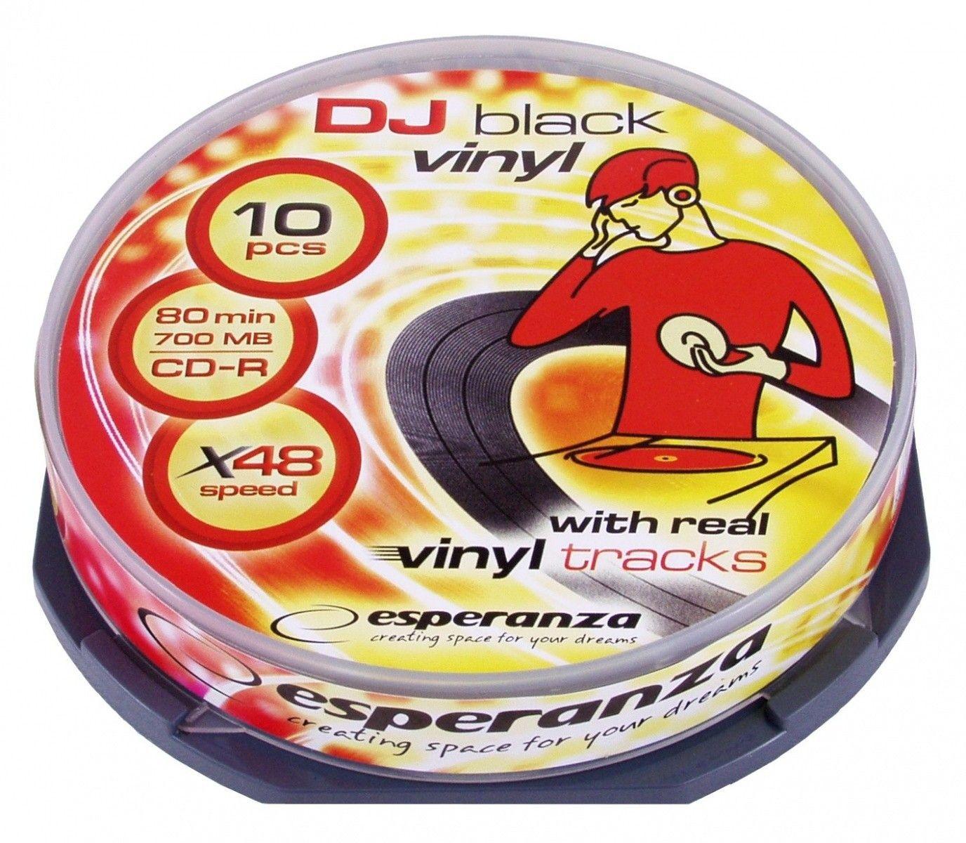 Esperanza CD-R 700MB 52x Vinyl (cake box, 10szt)