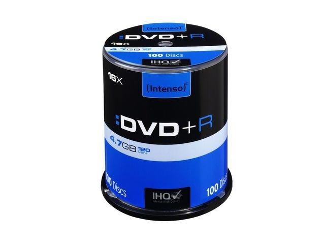 Intenso DVD+R 4.7GB 16x (cake box, 100szt)
