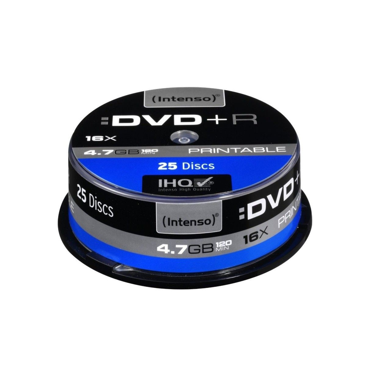 Intenso DVD+R 4.7GB 16x Printable Extra Fine Matt Fullface (cake box, 25szt)