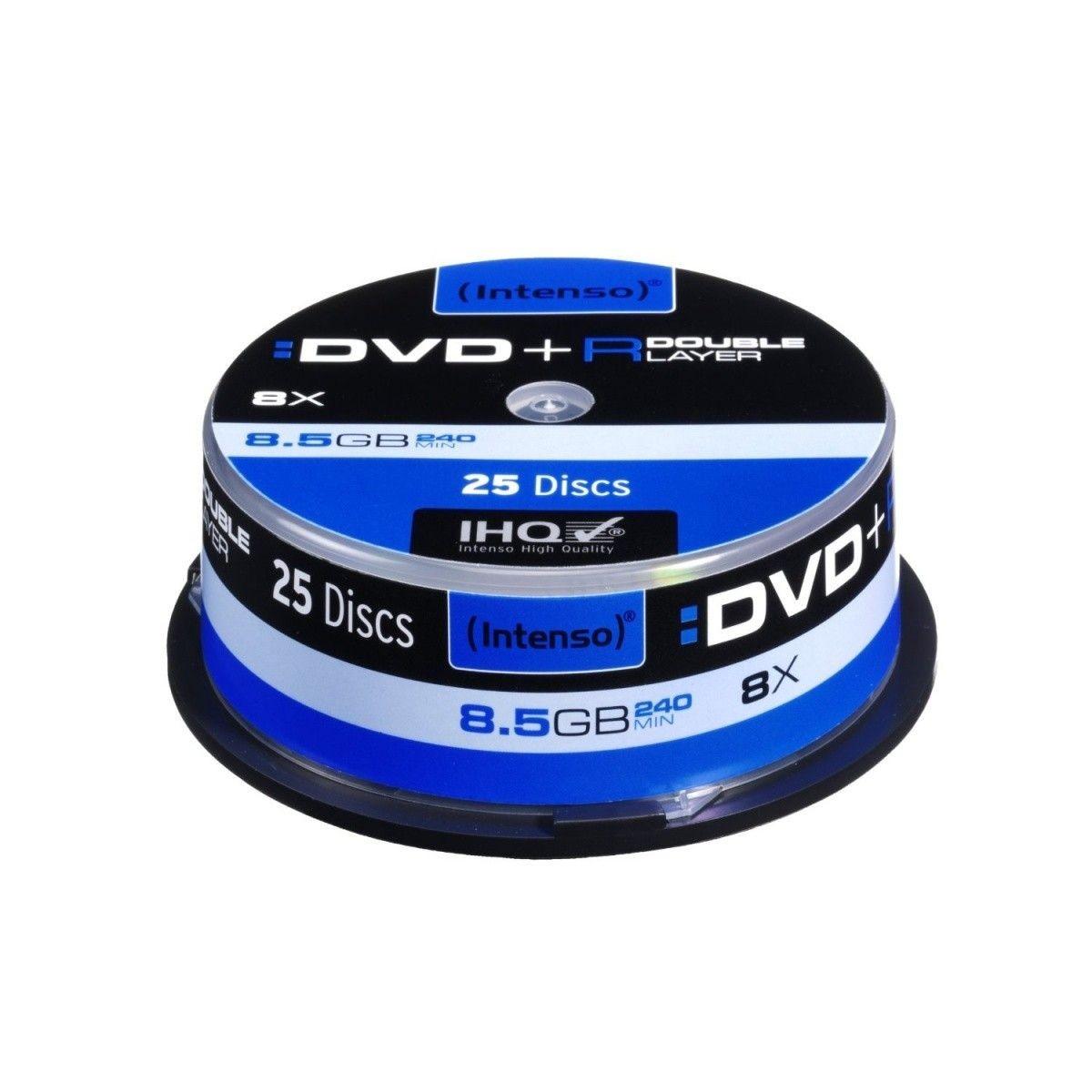 Intenso DVD+R DL 8,5GB 8x (cake box, 25szt)