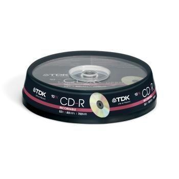 TDK CD-R 700MB 52x (cake box, 10szt)
