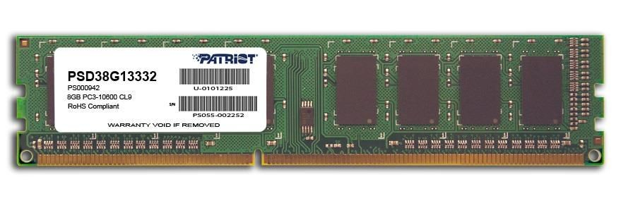 Patriot DDR3 8GB 1333MHz CL9 Signature