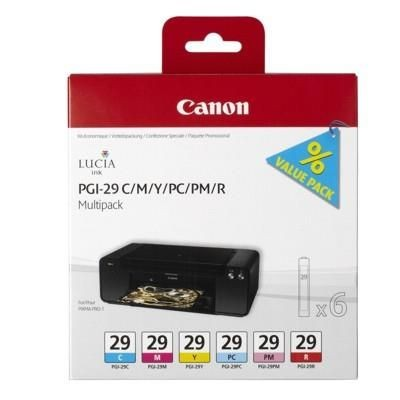 Canon Tusz PGI29 CMY/PC/PM/R MultiPack | Pixma PRO-1