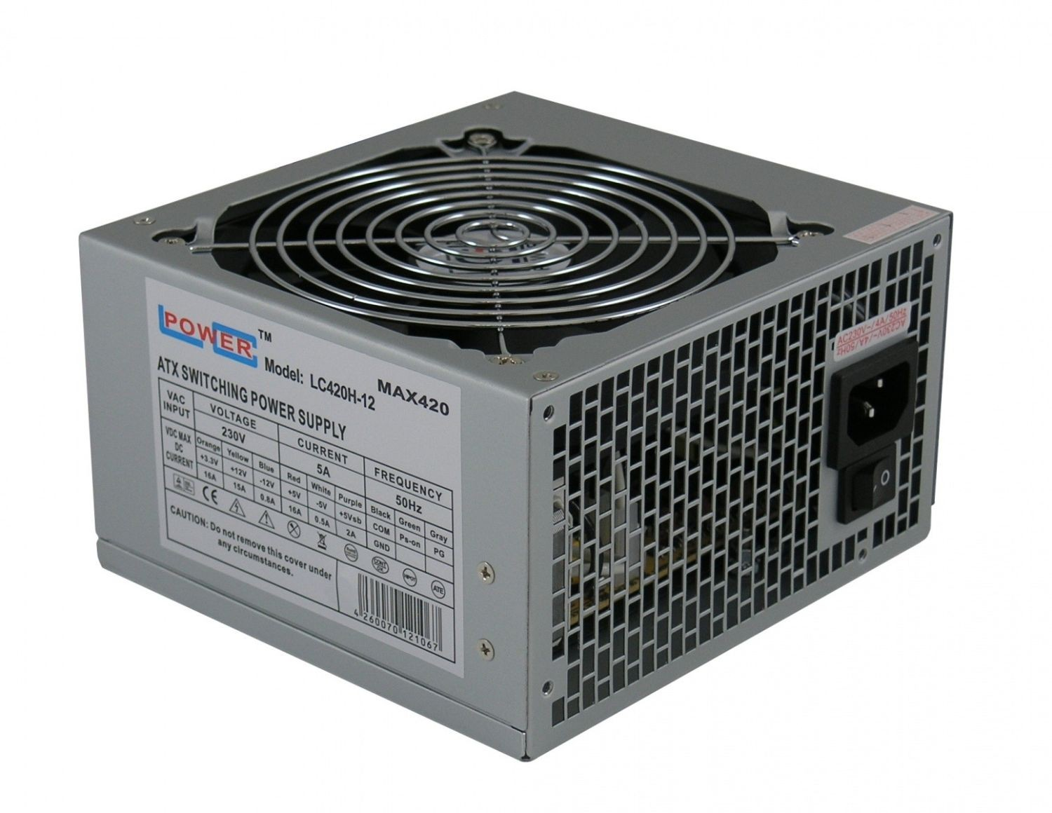 LC-Power zasilacz LC420H-12 OFFICE 420W (ATX, fan 120mm)