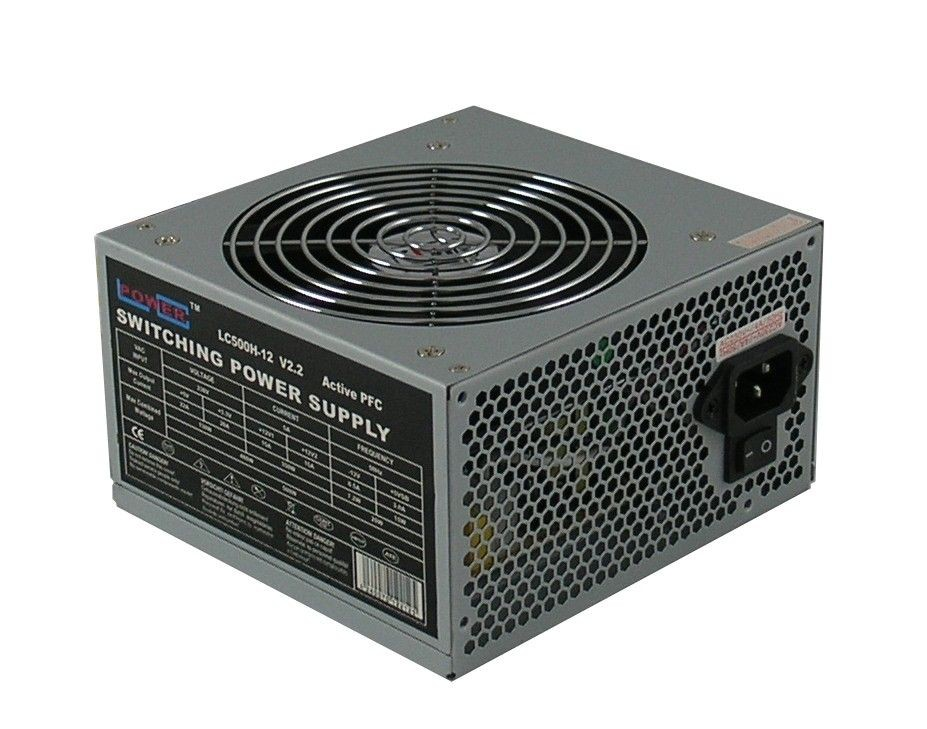 LC-Power zasilacz LC500H-12 OFFICE 500W (ATX, fan 120mm, APFC)