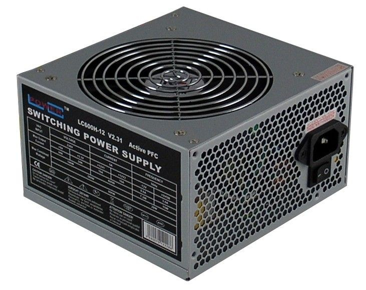 LC-Power zasilacz LC600H-12 OFFICE 600W (ATX, fan 120mm, APFC)