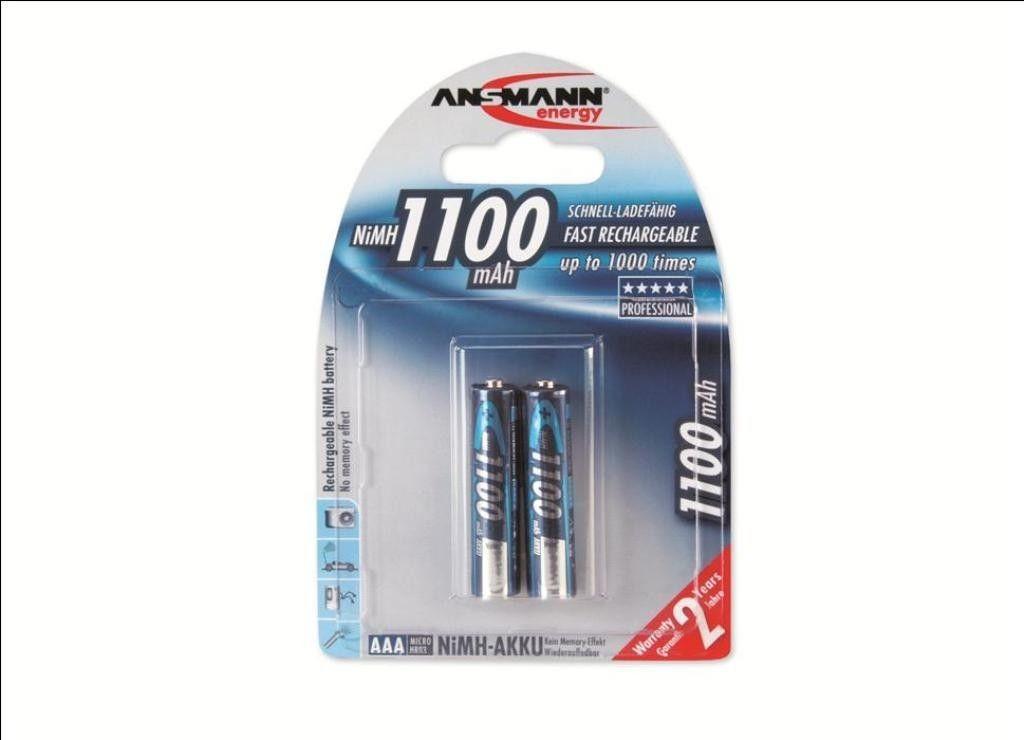 Ansmann akumulator NiMH AAA 1100mAh (2szt)