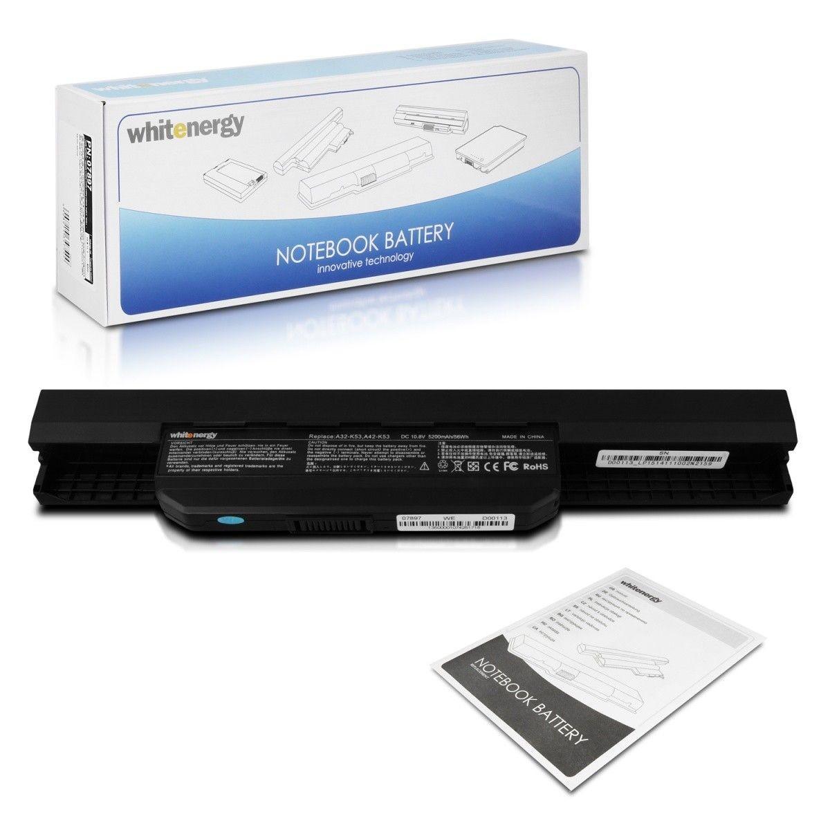 Whitenergy Premium bateria Asus A32-K53 (10.8V, Li-Ion, 5200mAh)