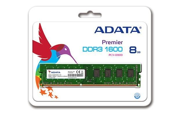 A-Data DDR3 8GB 1600MHz 11CL, 1,5V