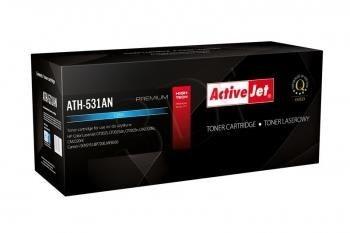 ActiveJet Toner ActiveJet ATH-531AN | Cyan | 2800 pp | HP CC531A (304A), Canon CRG-718C