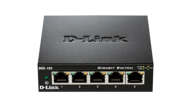 D-Link DGS-105 5-port 10/100/1000 Gigabit Metal Housing Desktop Switch