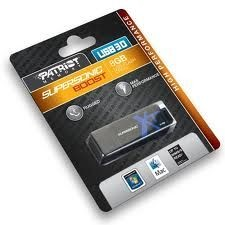 Patriot pamięć USB 8GB Supersonic XT Boost USB 3.0 (transfer do 90MB/s)