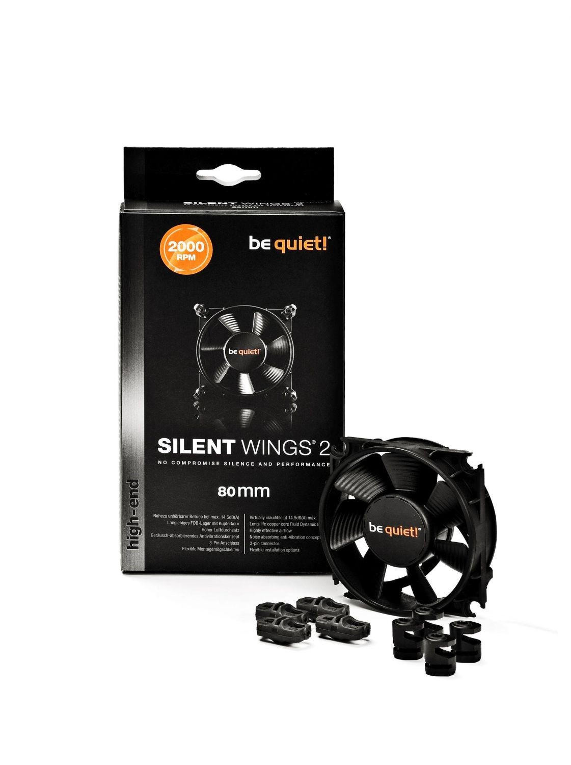 be quiet! Wentylator Silent Wings 2 80mm