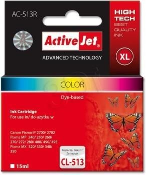 ActiveJet Tusz ActiveJet AC-513R | color | 15 ml | Canon CL-513