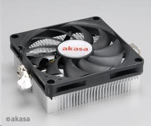 Akasa AKASA Chladič CPU AK-CC1101EP02 pro AMD socket 754, 979, AMx, 80mm PWM ventilátor, pro mini ITX skříně