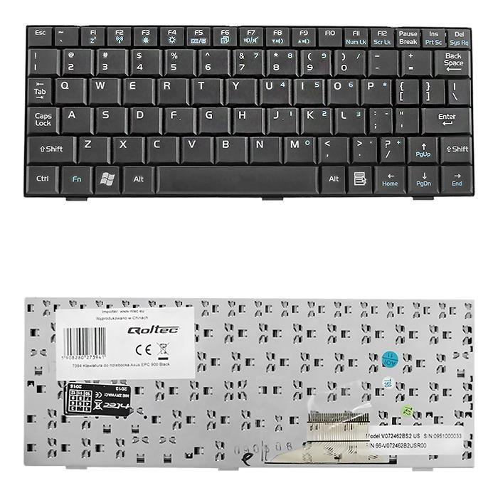 Qoltec Klawiatura do laptopa Asus EPC 900 CZARNA