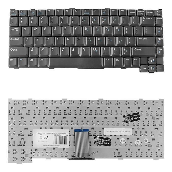 Qoltec Klawiatura do laptopa Dell Inspiron 1200 CZARNA