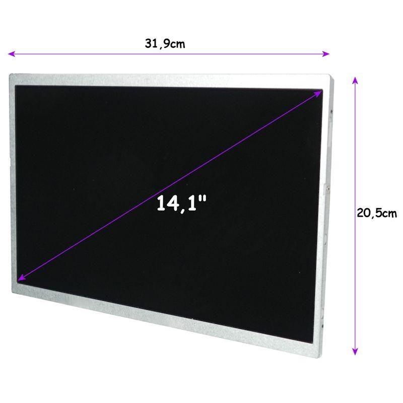 Qoltec Matryca LCD 14.1'' (CCFL) 1280*800 GLOSSY - 30Pin, GRADE A+