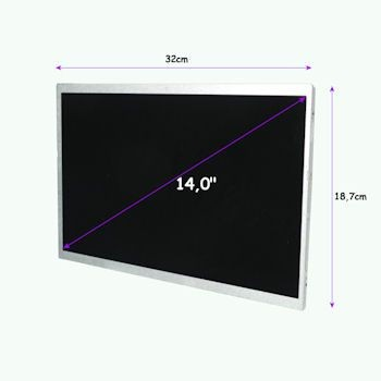 Qoltec matryca LED 14,0'' (1366x768, glossy, slim, 40 pin)