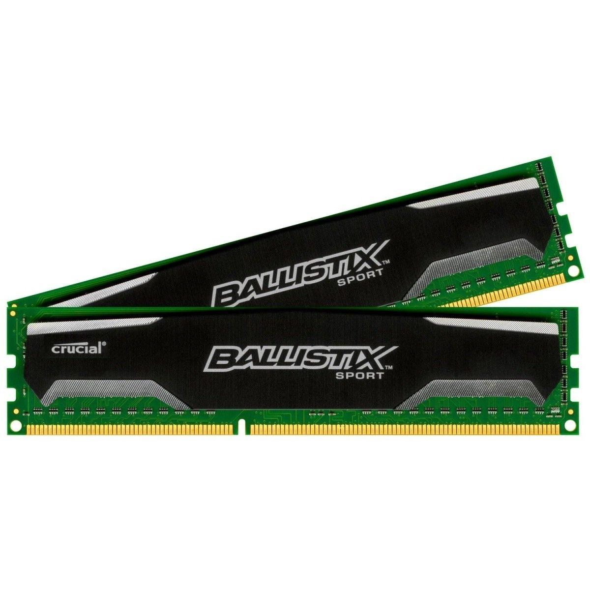 Crucial Ballistix Sport 2x4GB 1600MHz DDR3 CL9 DIMM 1.5V