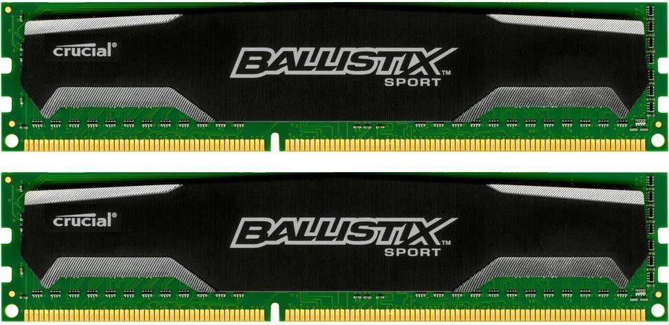Crucial Ballistix sport 2x8GB 1600MHz DDR3 CL9 UDIMM 1.5V
