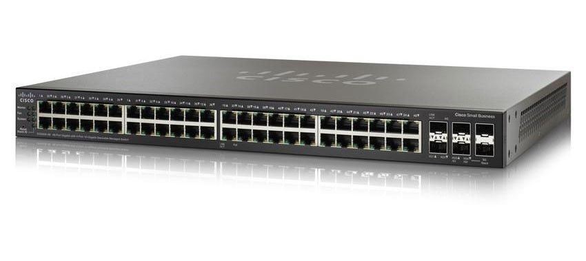Cisco Systems Cisco SG500X-48 48x10/100/1000, 4x10Gig SFP+ Stackable Managed Switch