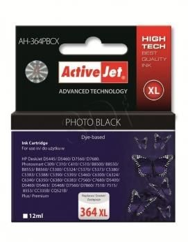 ActiveJet Tusz ActiveJet AH-364PBCX | Foto Czarny | 12 ml | HP 364XL CB322EE