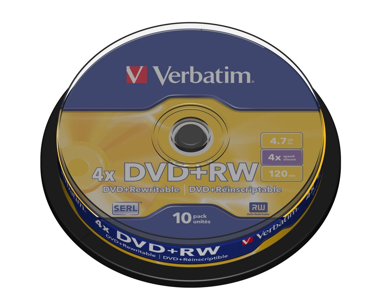 Verbatim DVD+RW 4,7GB x4 (cake box, 10szt)
