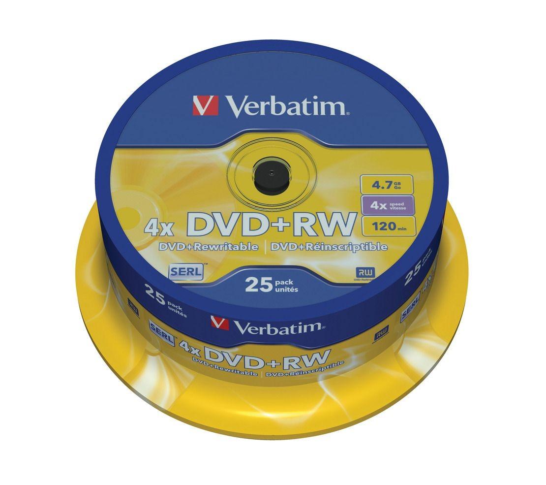 Verbatim DVD+RW [ cake box 25 | 4.7GB | 4x ]