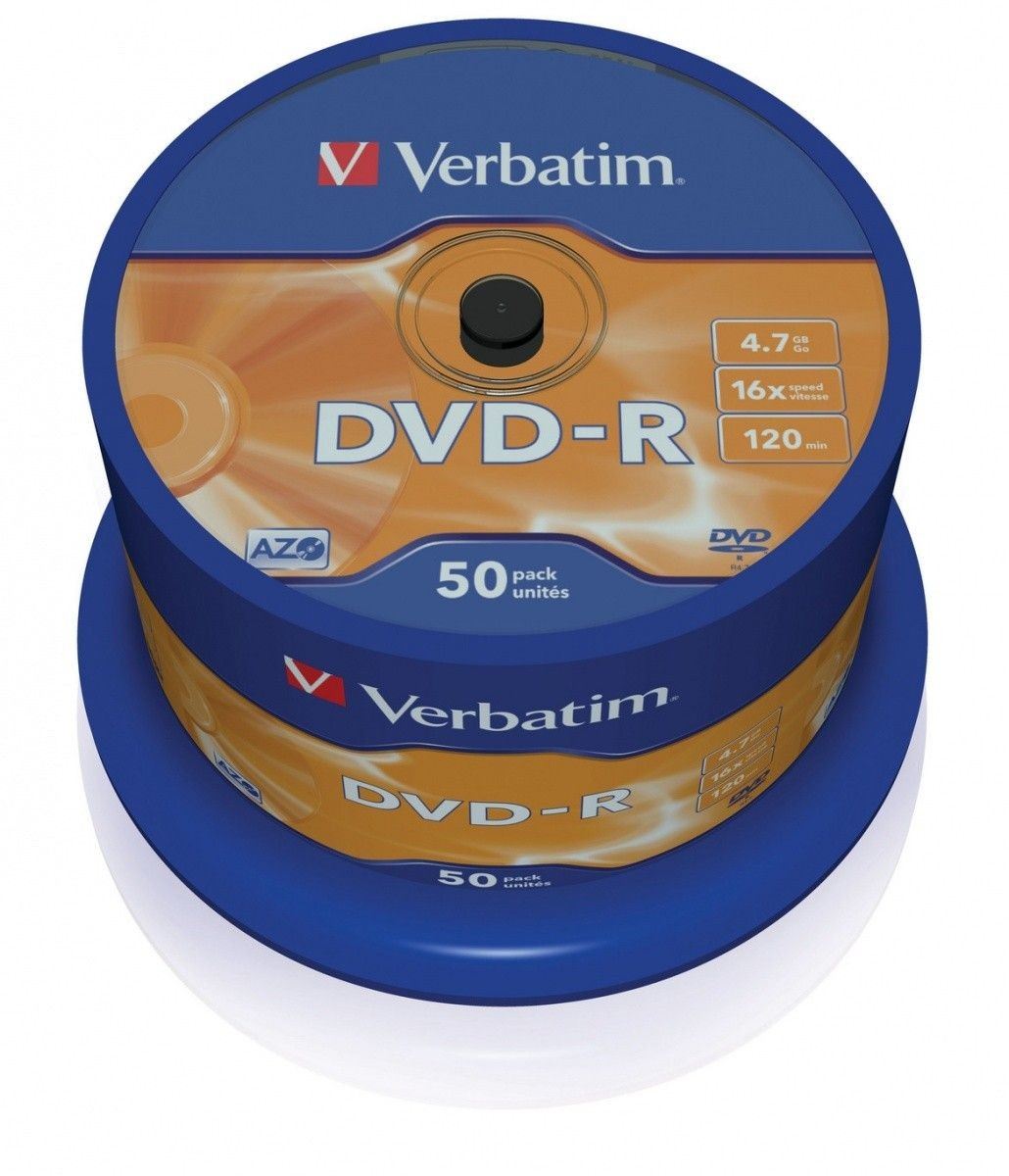 Verbatim DVD-R [ cake box 50 | 4.7GB | 16x | matte silver ]
