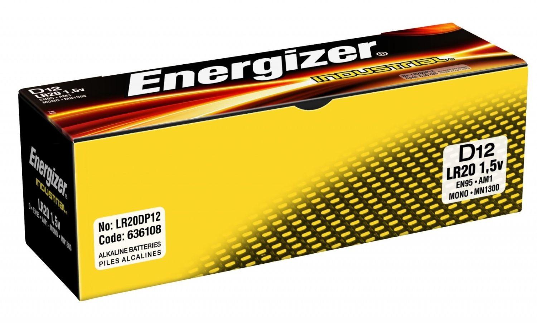 Energizer bateria alkaliczna Industrial D LR20 (12szt)