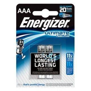Energizer Bateria Ultimate Lithium Litowa AAA L92 2 szt. blister