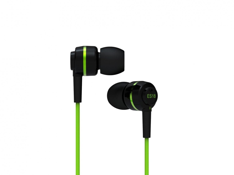 SoundMagic ES18 Black-Green (słuchawki dokanałowe)