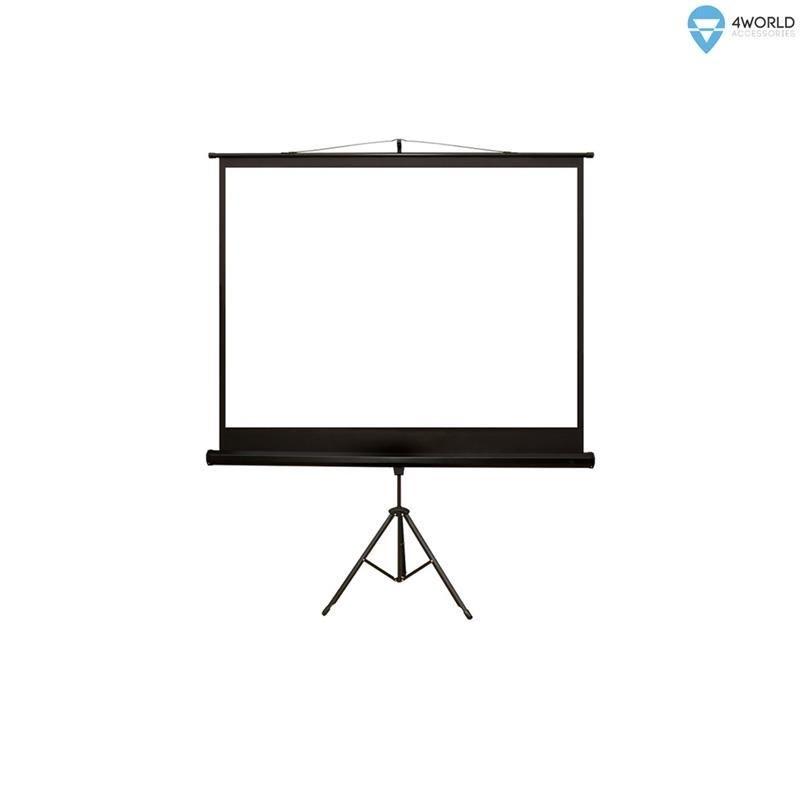 4World ekran projekcyjny ze statywem 170x127 (84'', 4:3) biały mat