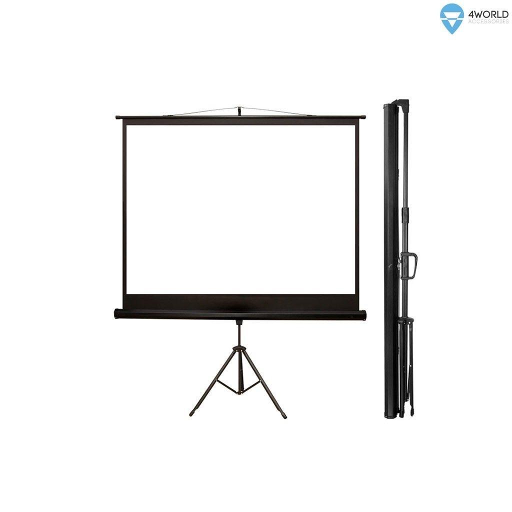 4World ekran projekcyjny ze statywem 203x152 (100'', 4:3) biały mat