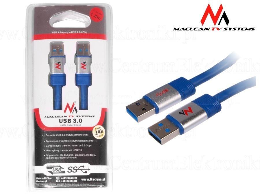 Maclean kabel USB 3.0 Am-Am 1.8m