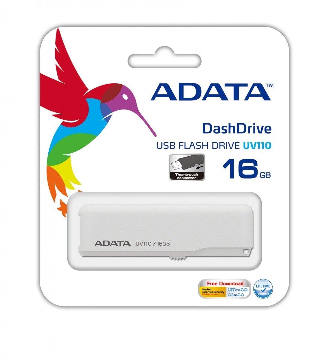 A-Data DashDrive UV110 16GB USB2.0 (biały)