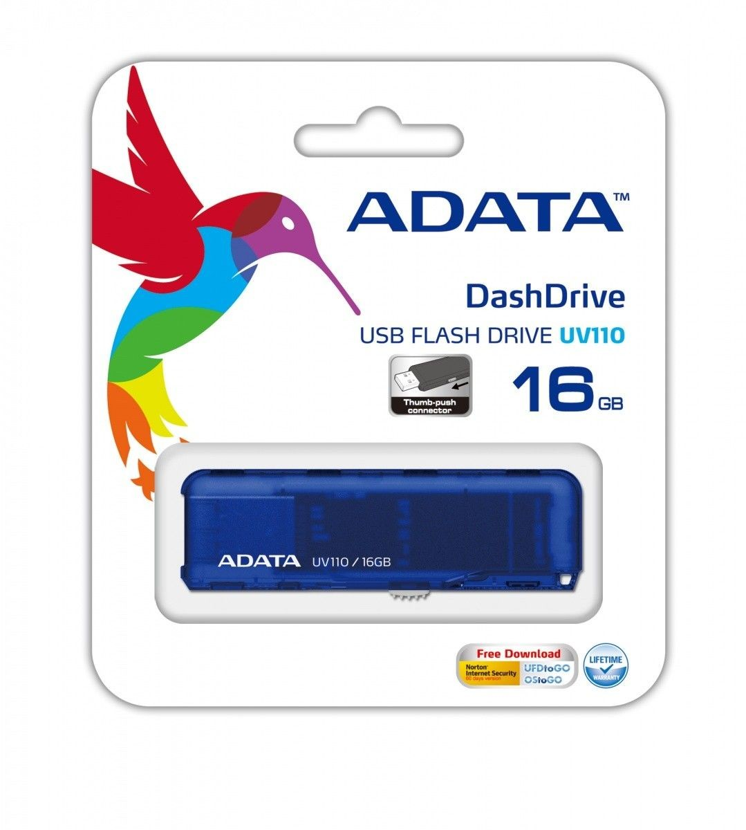 A-Data DashDrive UV110 16GB USB2.0 niebieski