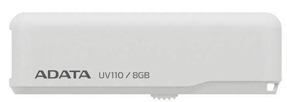 A-Data Adata pamięć USB 8GB Dash Drive UV110 USB2.0 Biały, retail