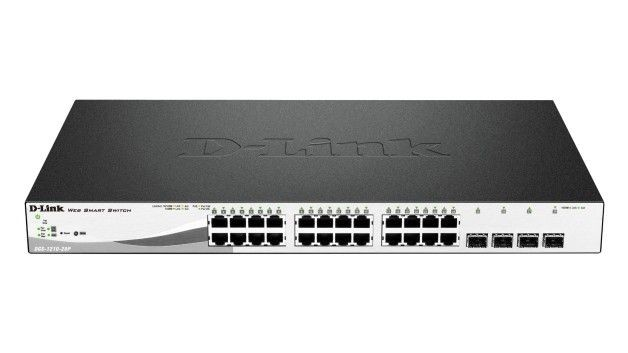 D-Link 24 PoE 10/100/1000 Base-T port with 4 x 1000Base-T /SFP ports