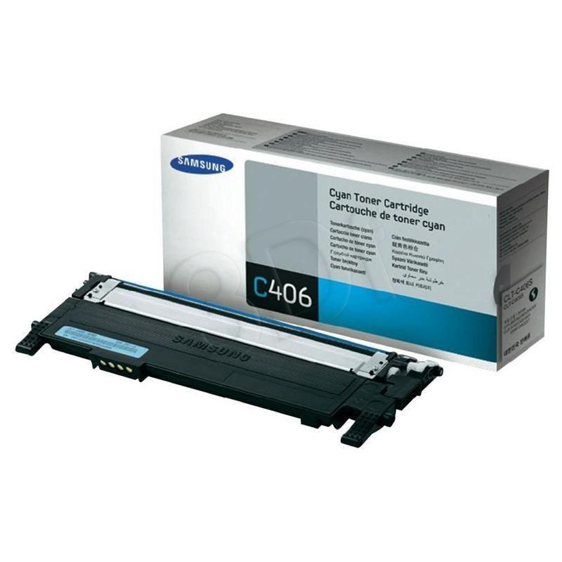 Samsung Toner cyan CLT-C406S | 1 000str | CLP-360/CLP-365 CLX-3300/CLX-3305