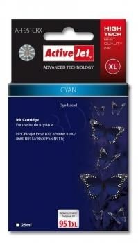 ActiveJet Tusz ActiveJet AH-951CRX | Cyan | 25 ml | HP 951XL CN046AE
