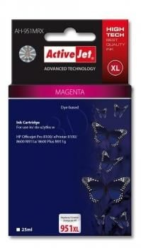 ActiveJet Tusz ActiveJet AH-951MRX | Magenta | 25 ml | HP 951XL CN047AE