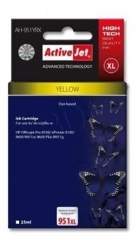 ActiveJet Tusz ActiveJet AH-951YRX | Yellow | 25 ml | HP 951XL CN048AE