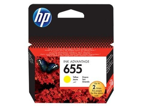 HP tusz 655 yellow