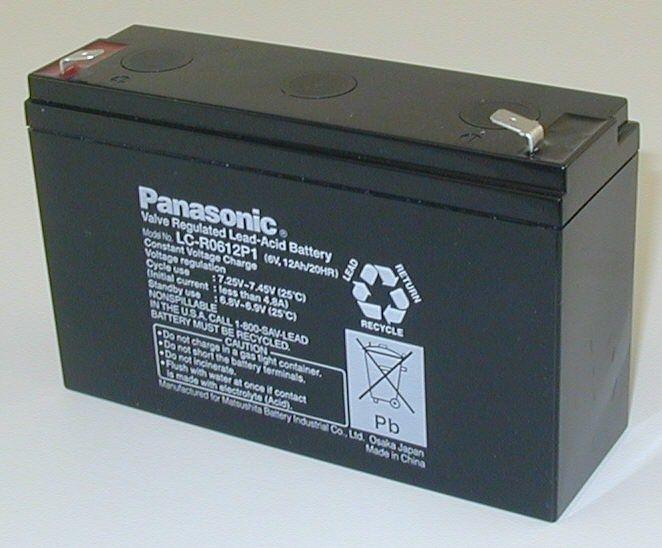 Bateria Panasonic LC-R0612P1 (6V/12Ah - Faston 250)